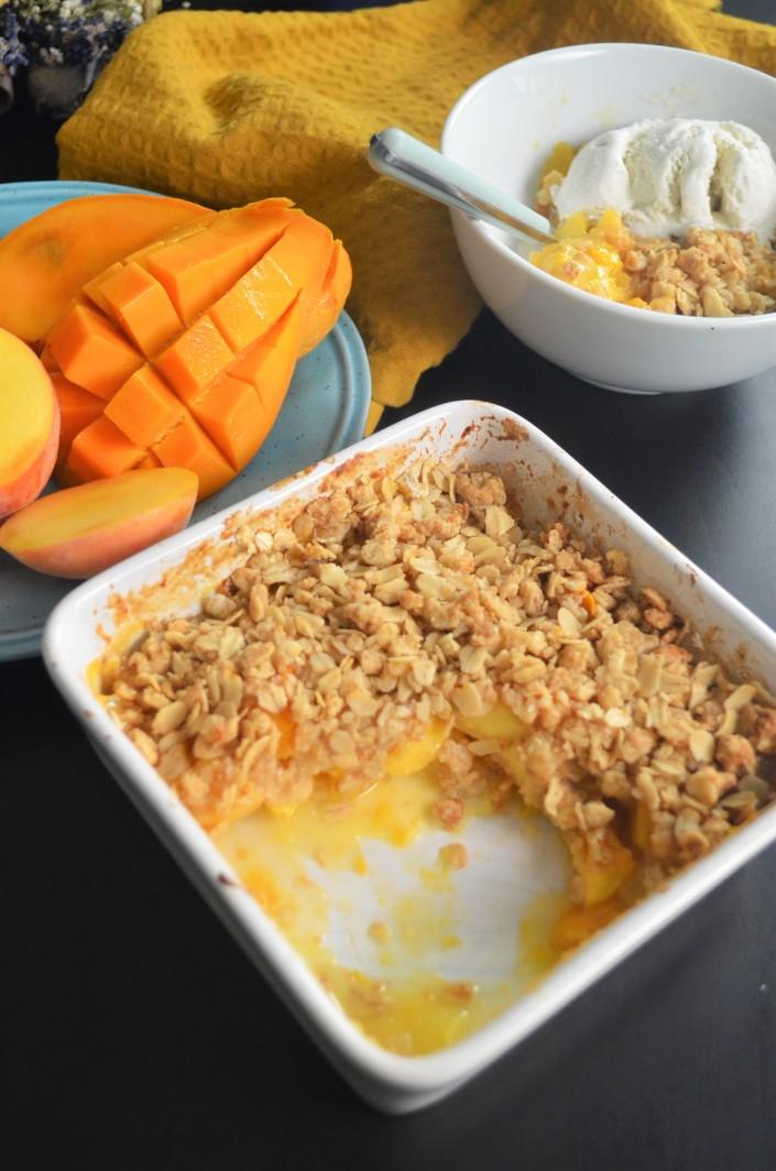 Peach Mango Crisp