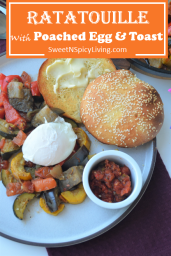 Ratatouille with Poached Egg and Toast