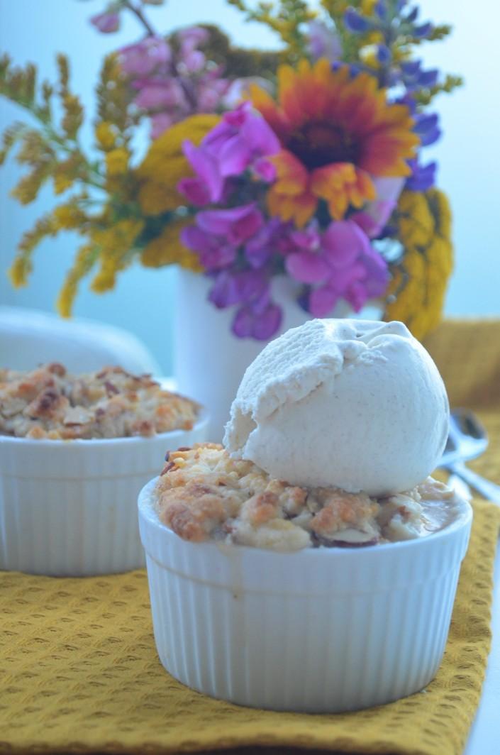 Single Serve Peach Cobbler