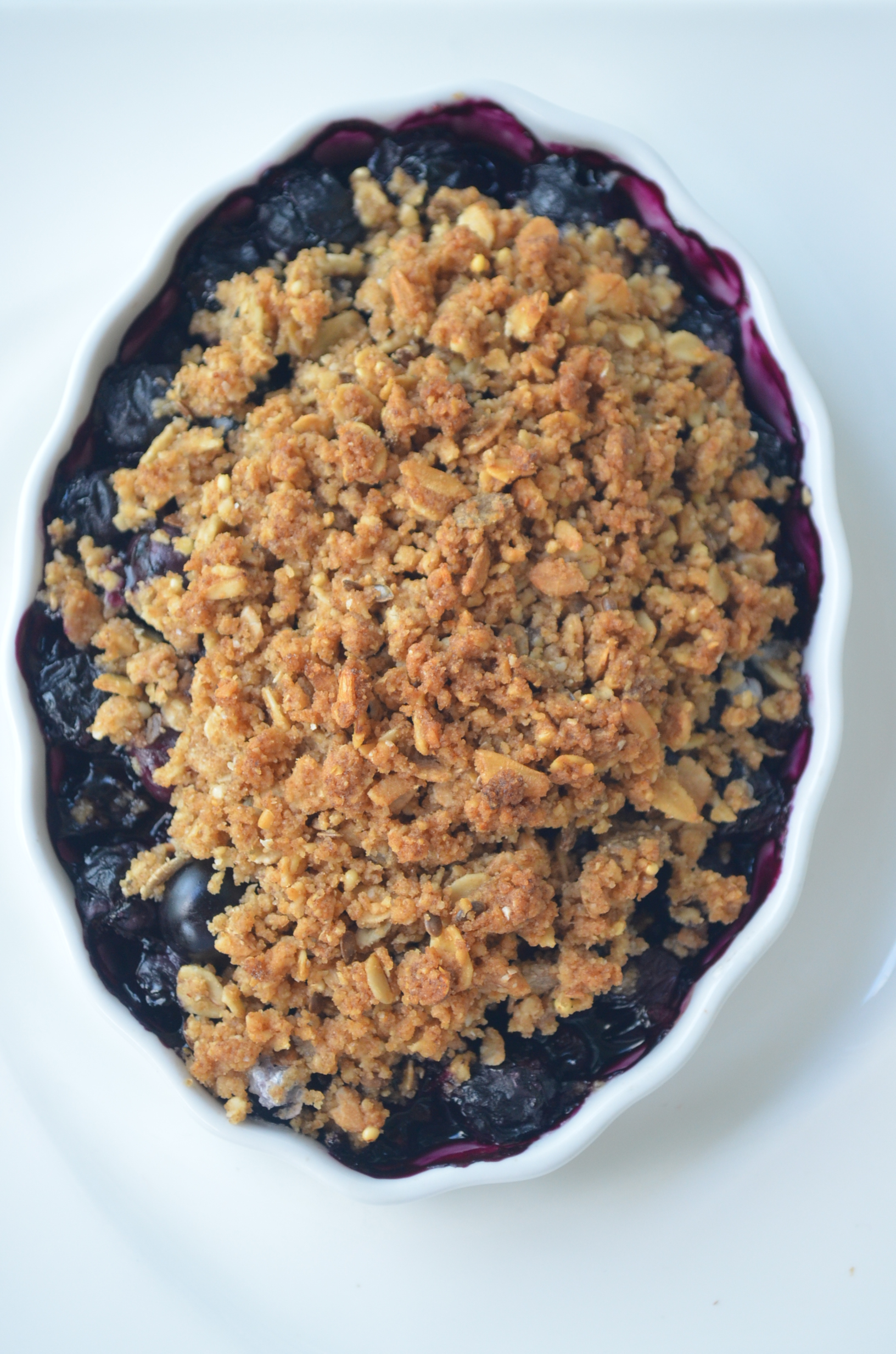 Small Batch Blueberry Crisp
