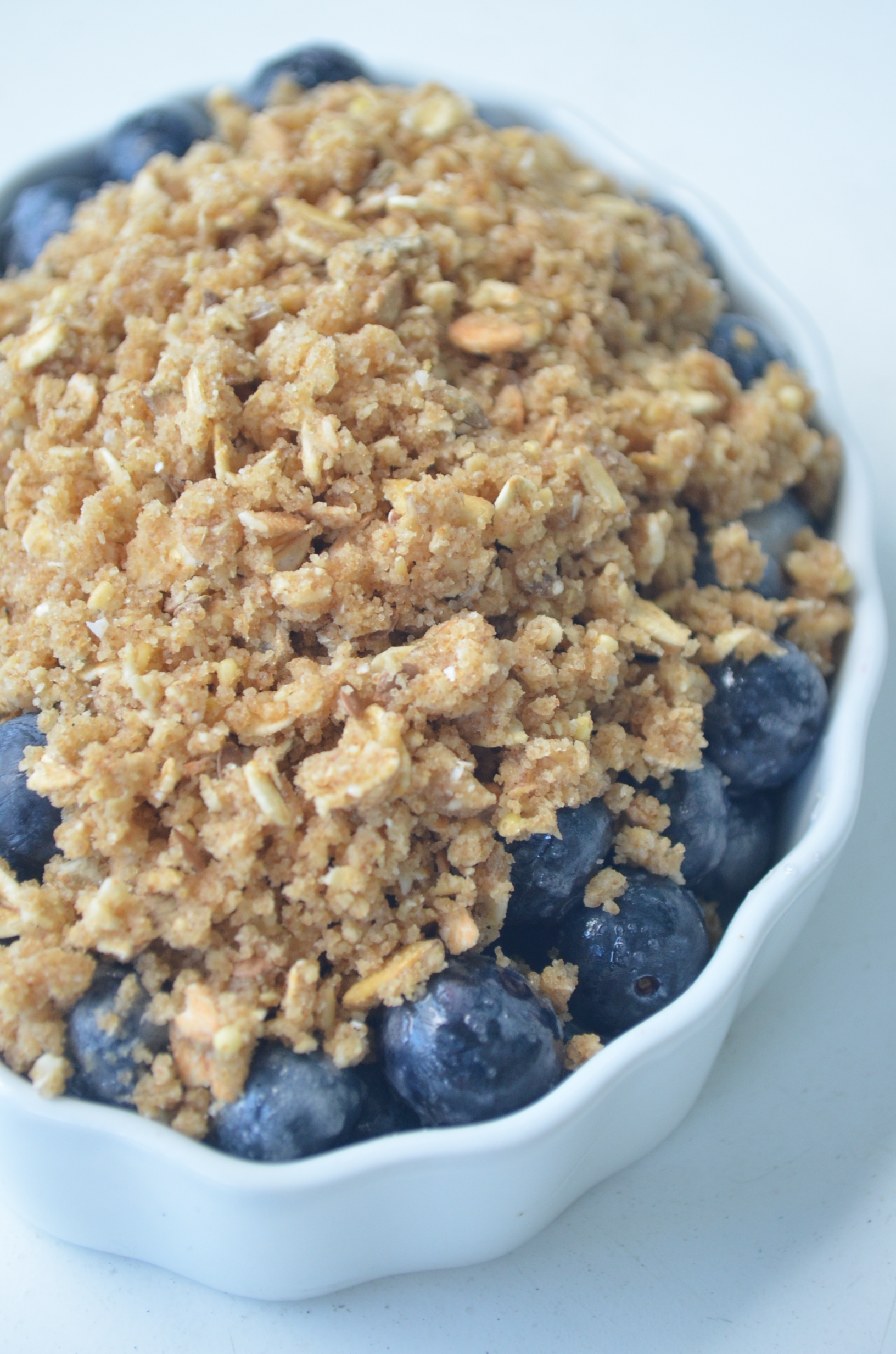 Small Batch Blueberry Crumble