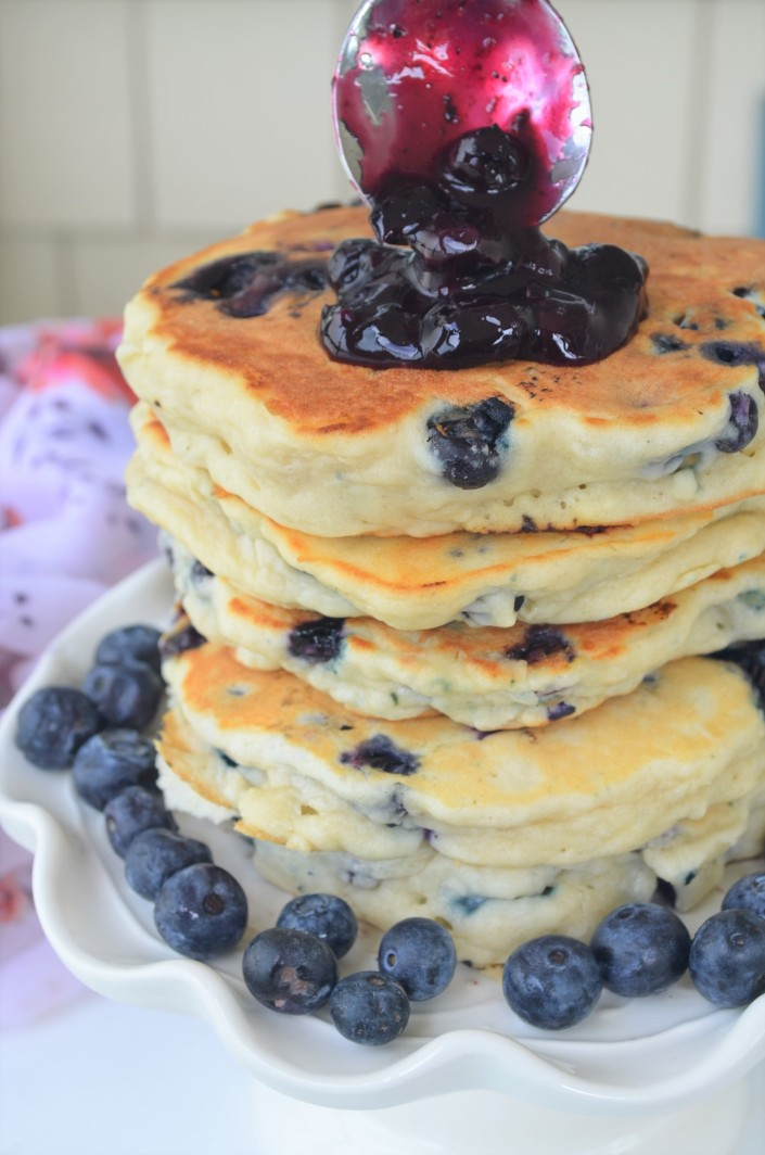 Small Batch Blueberry Pancakes