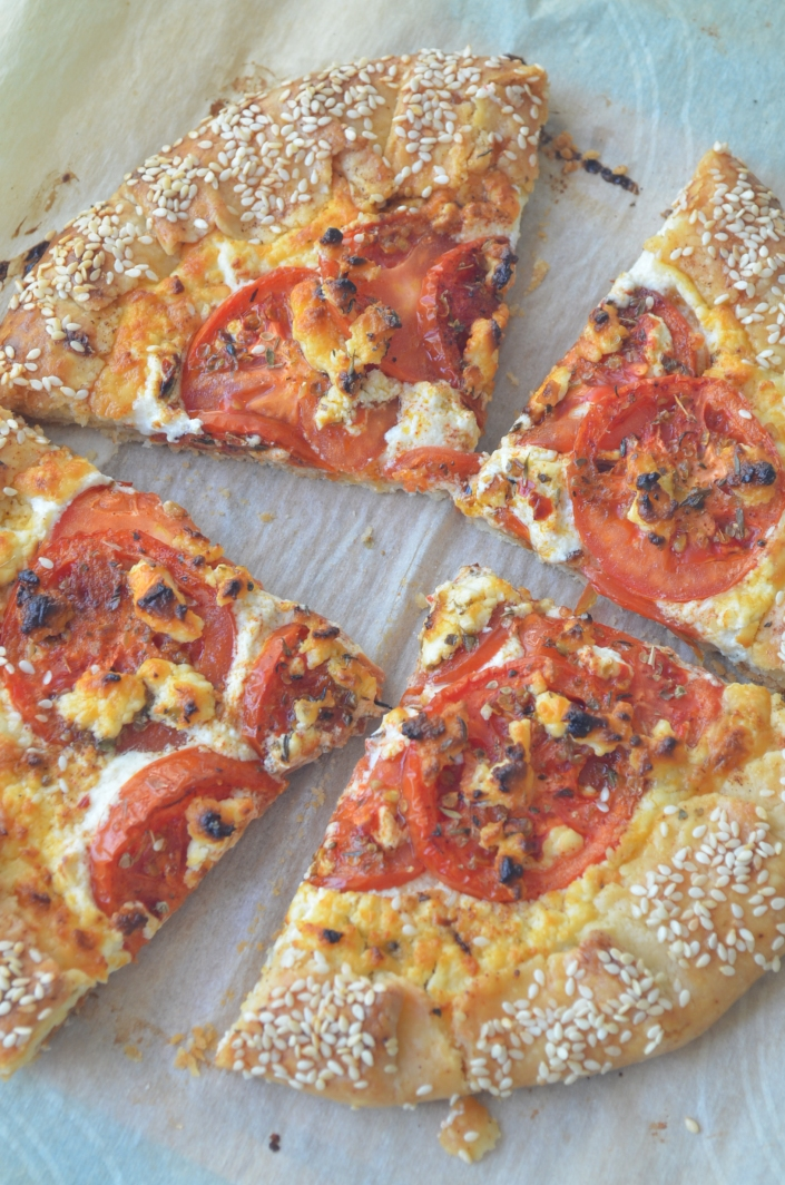 Small Batch Feta and Tomato Galette