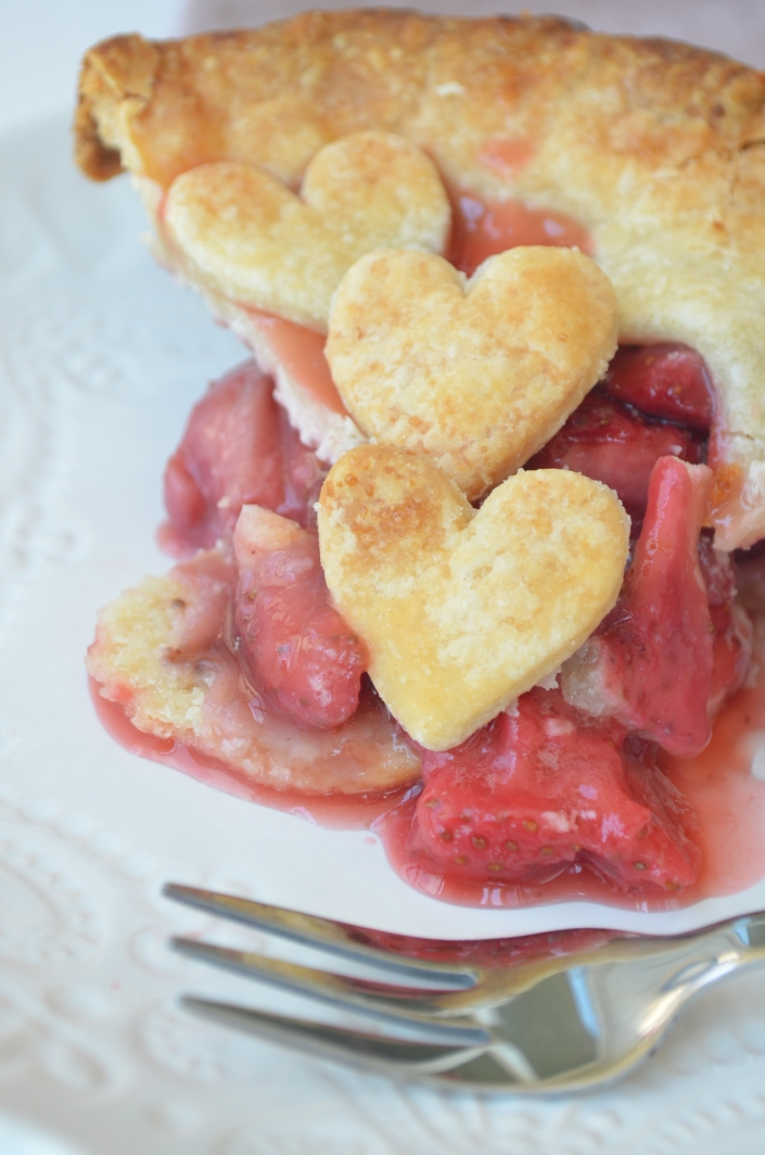 Small Batch Strawberry Pie By SweetNSpicyLiving.com