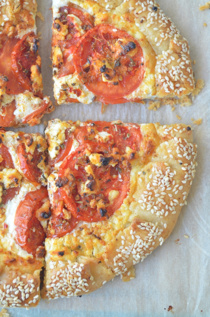 Small Batch Tomato Galette with Feta