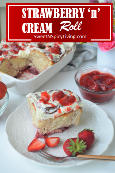 Strawberry and Cream Cheese Roll