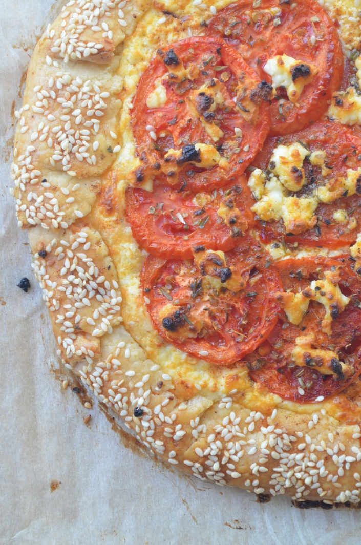 Tomato and Feta Pizza Pie