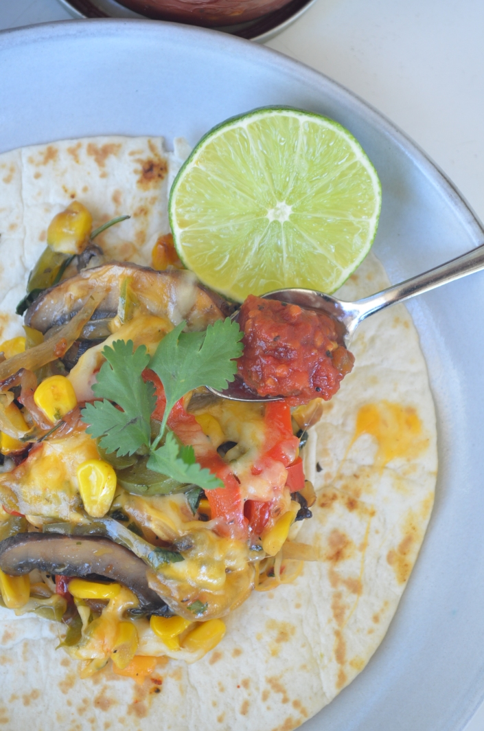 Vegetarian Fajita By SweetNSpicyLiving.com