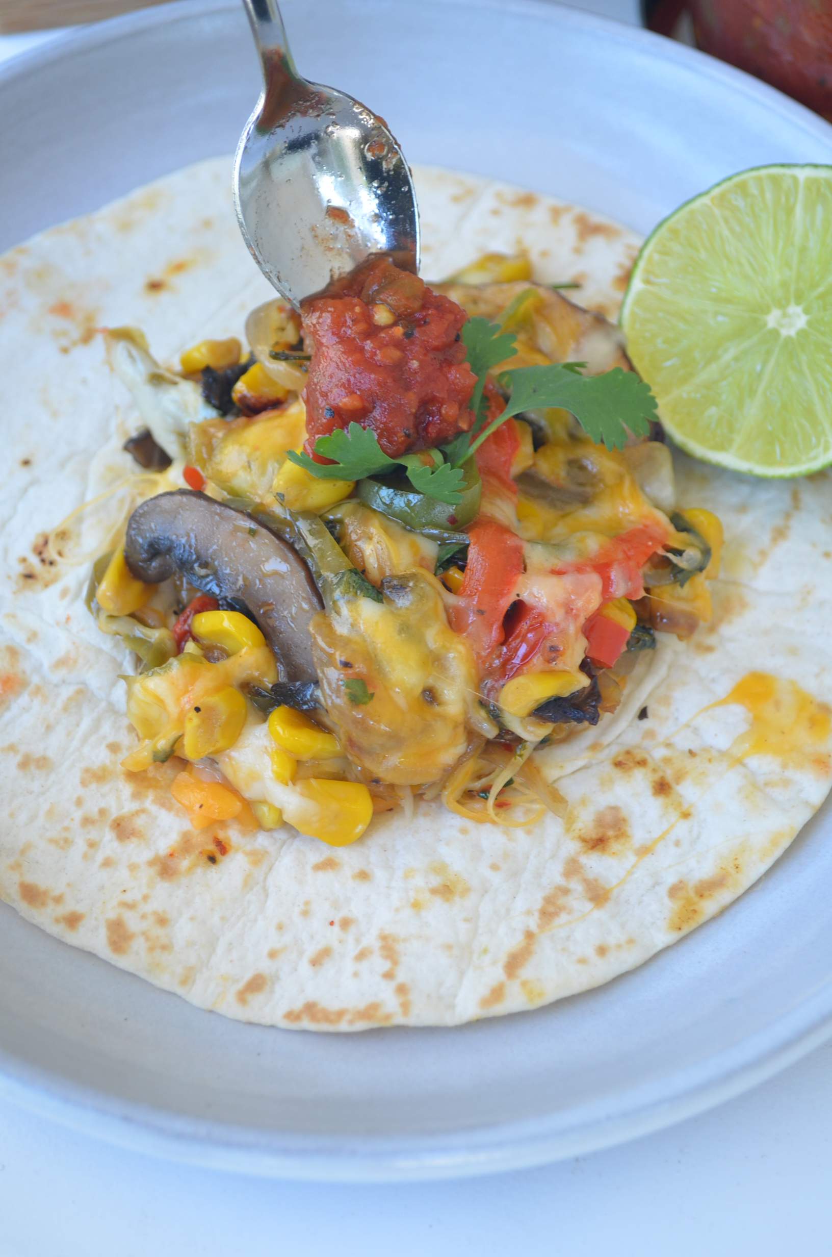 Vegetarian Fajita with Mushroom and Peppers