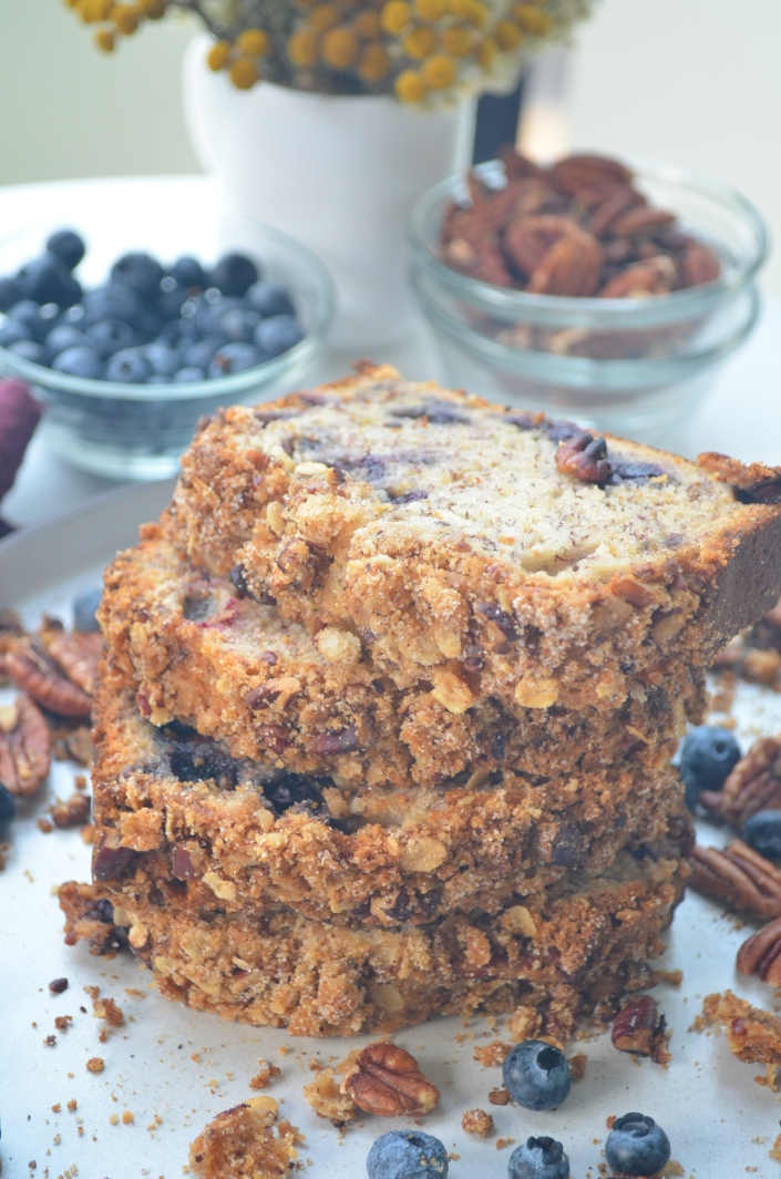 Blueberry Banana Bread By SweetNSpicyLiving