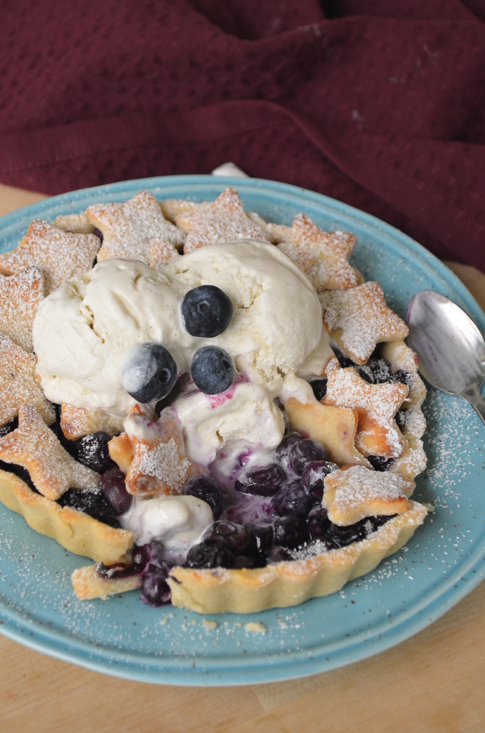 Blueberry Pie For Two