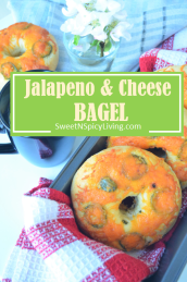 Jalapeno and Cheese Bagel