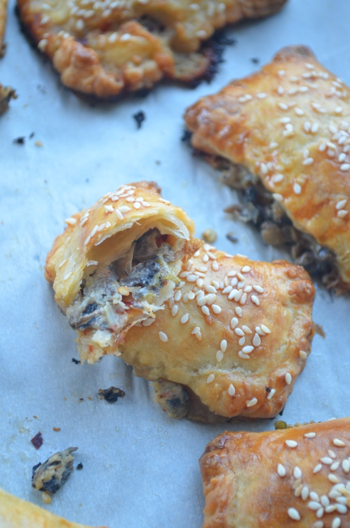 Mushroom and Cheese Hand Pies