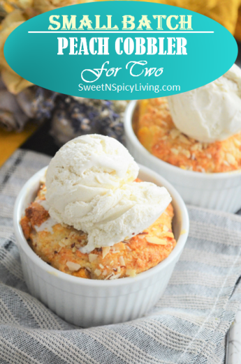 Peach Cobbler For Two