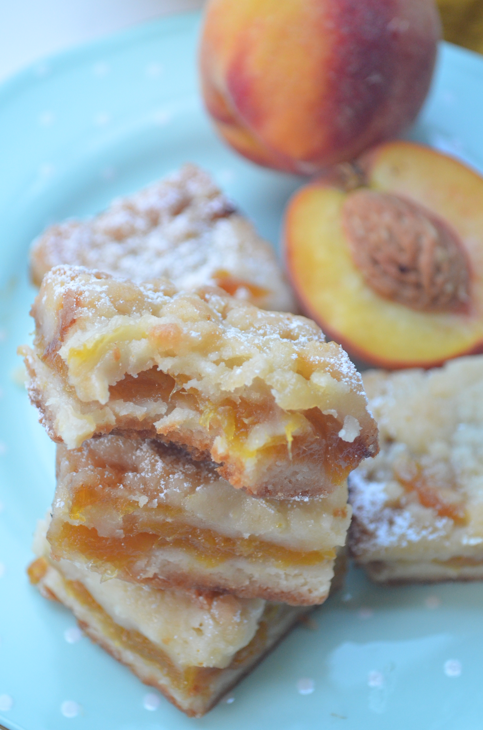 Peach Crumb Bar Recipe By SweetNSpicyLiving