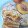 Peach Crumb Bar Recipe By SweetNSpicyLiving