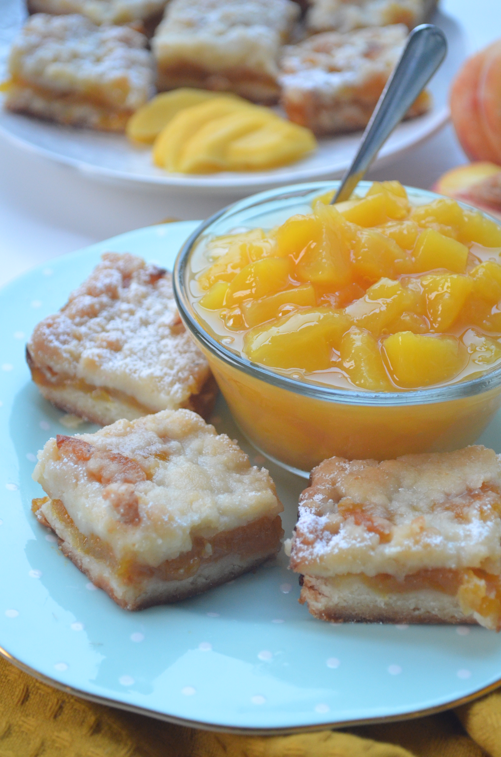 Peach Crumb Bar Recipe