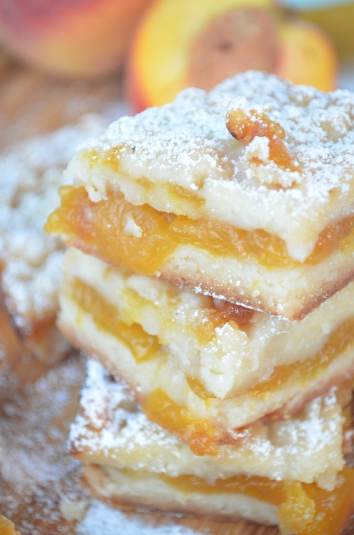 Peach Jam Crumb Bars