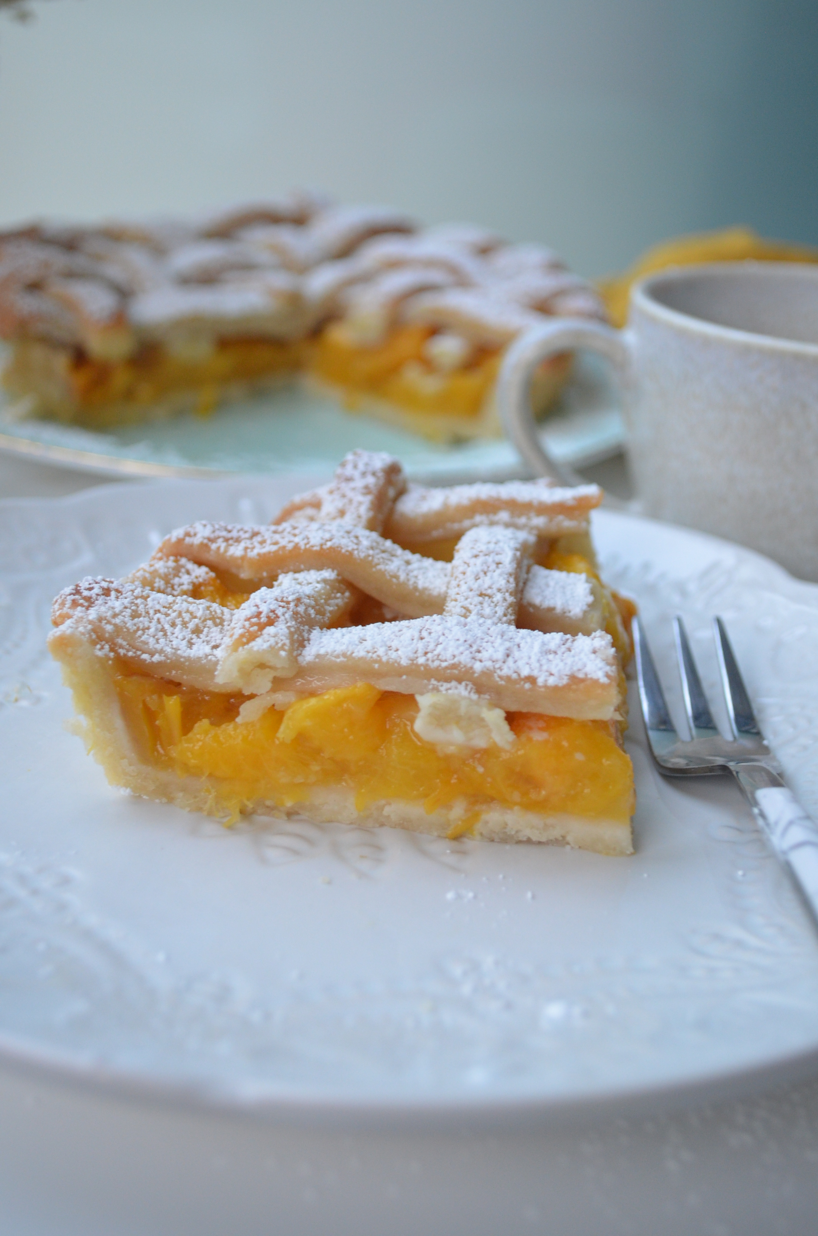 Peach Mango Pie For Two