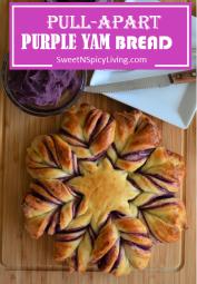Pullapart Purple Yam Bread