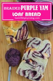 Purple Yam Loaf Bread