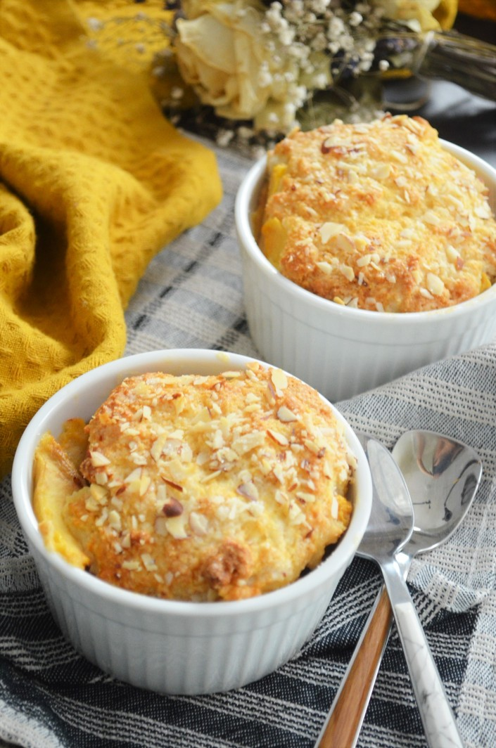 Small Batch Peach Cobbler For Two with Biscuit Topping