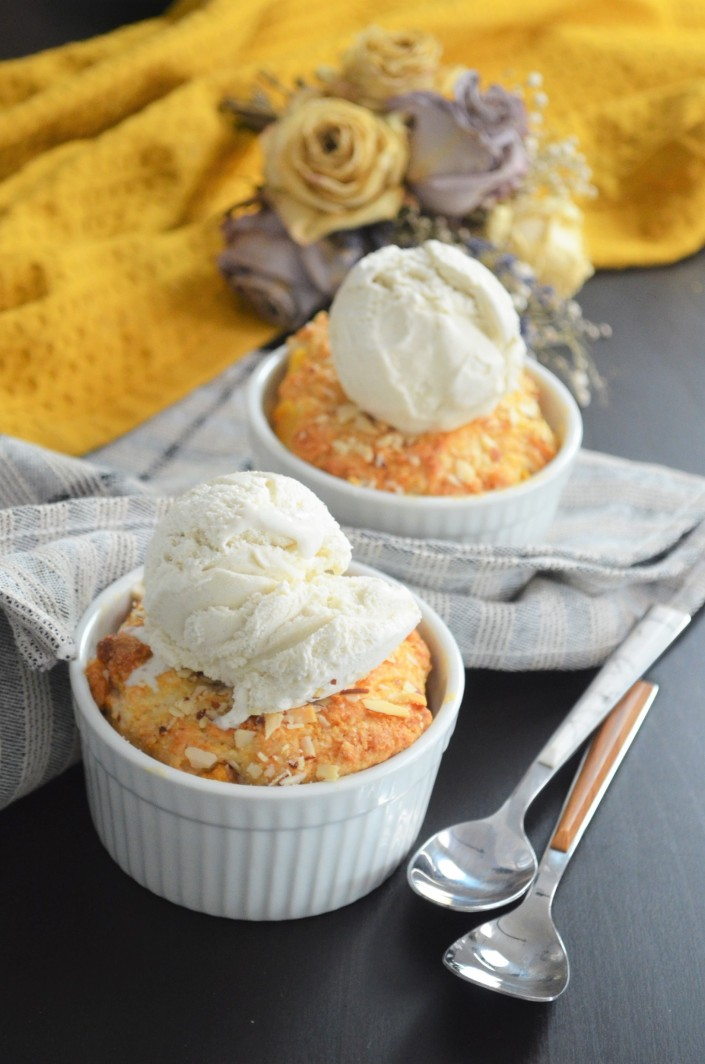 Small Batch Peach Cobbler with Biscuit Topping