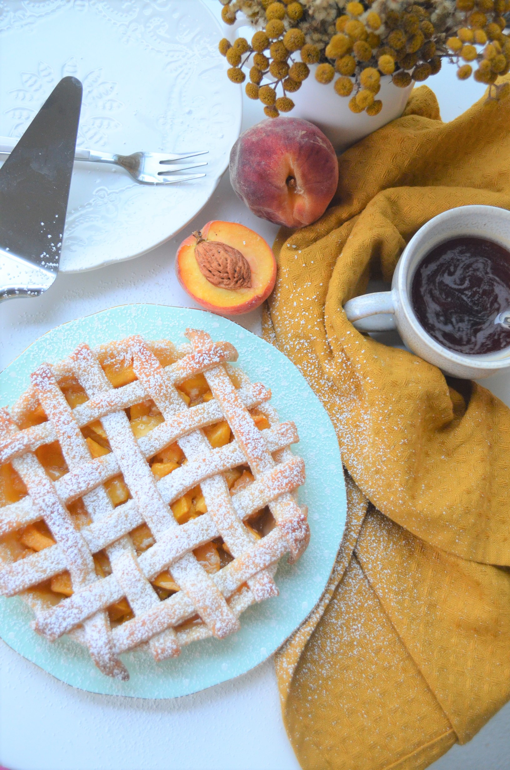 Small Batch Peach Mango Pie