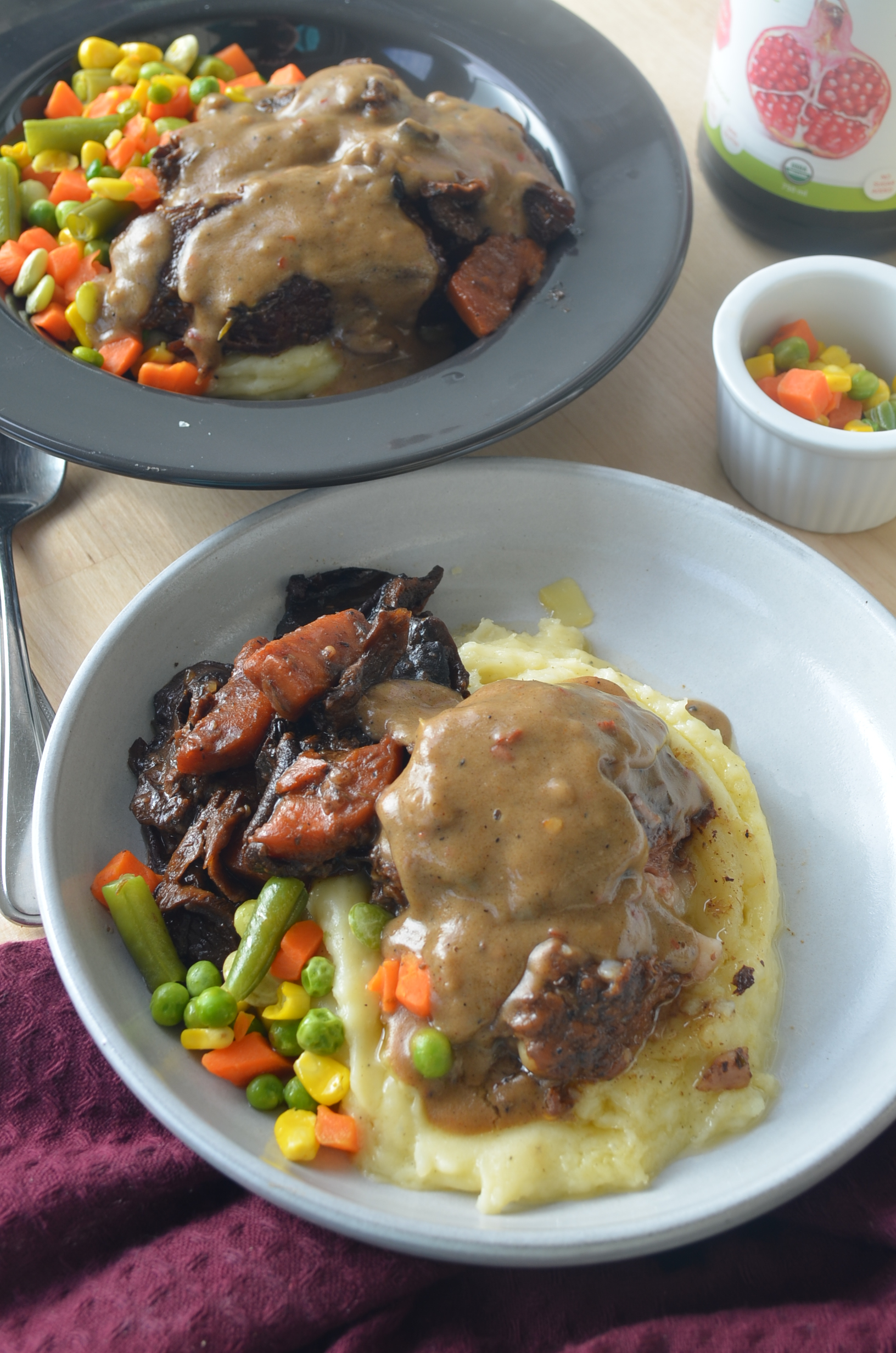 Beef Pot Roast with Mashed Potato and Carrots