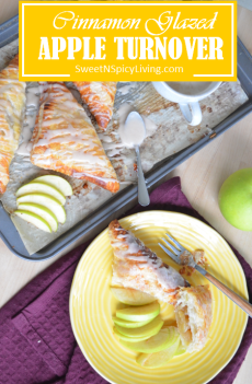 Cinnamon Glazed Apple Turnover
