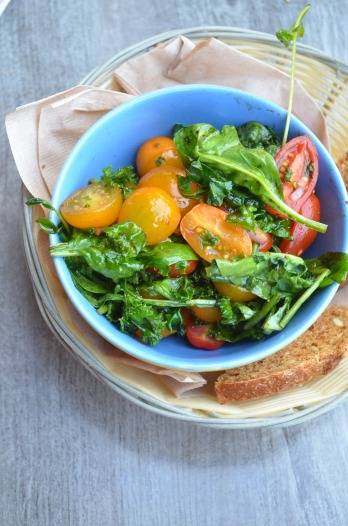 Gnarlyroots Garden Spinach Salad