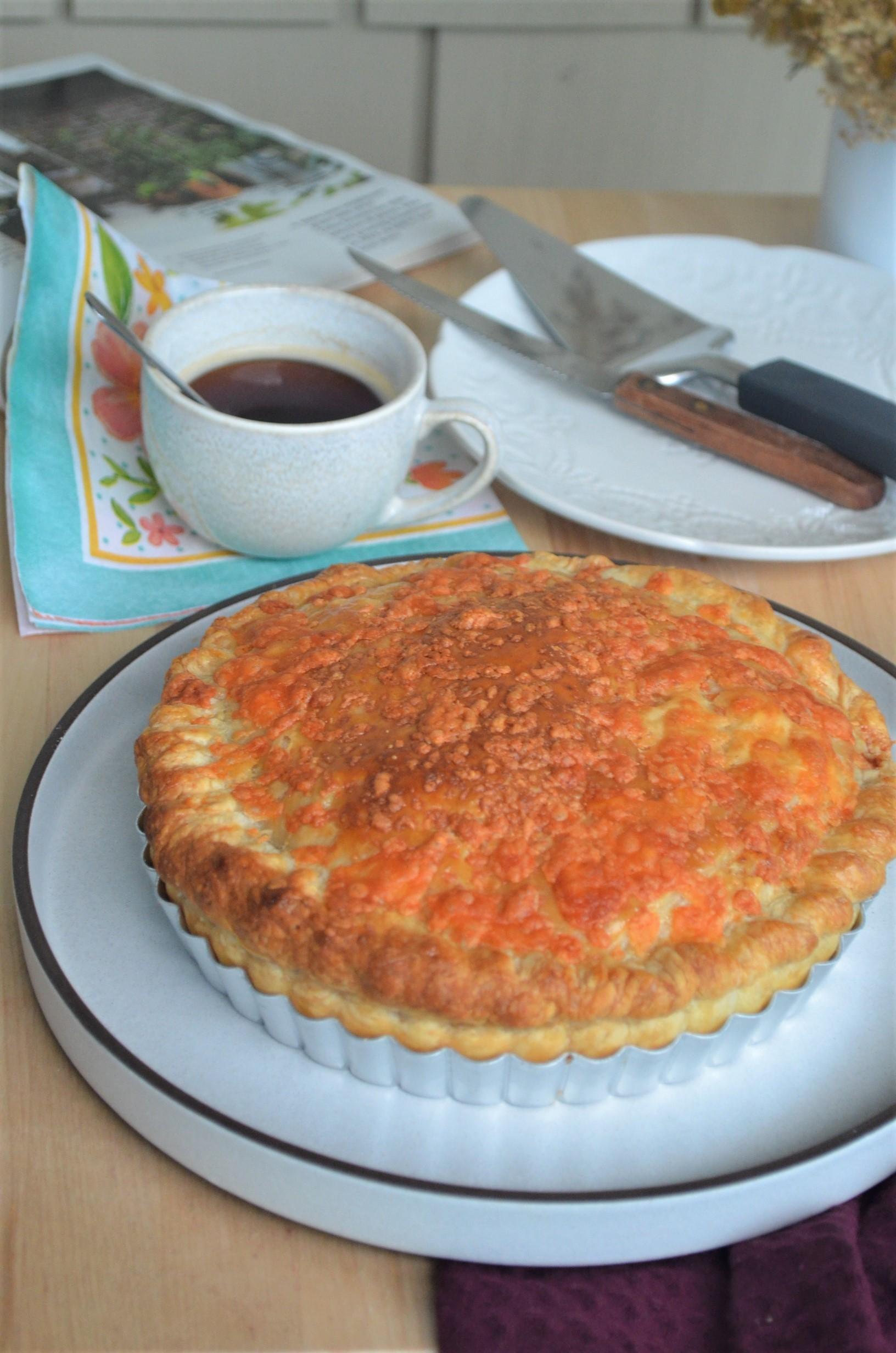 Ham Egg Puff Pastry Cheese Pie
