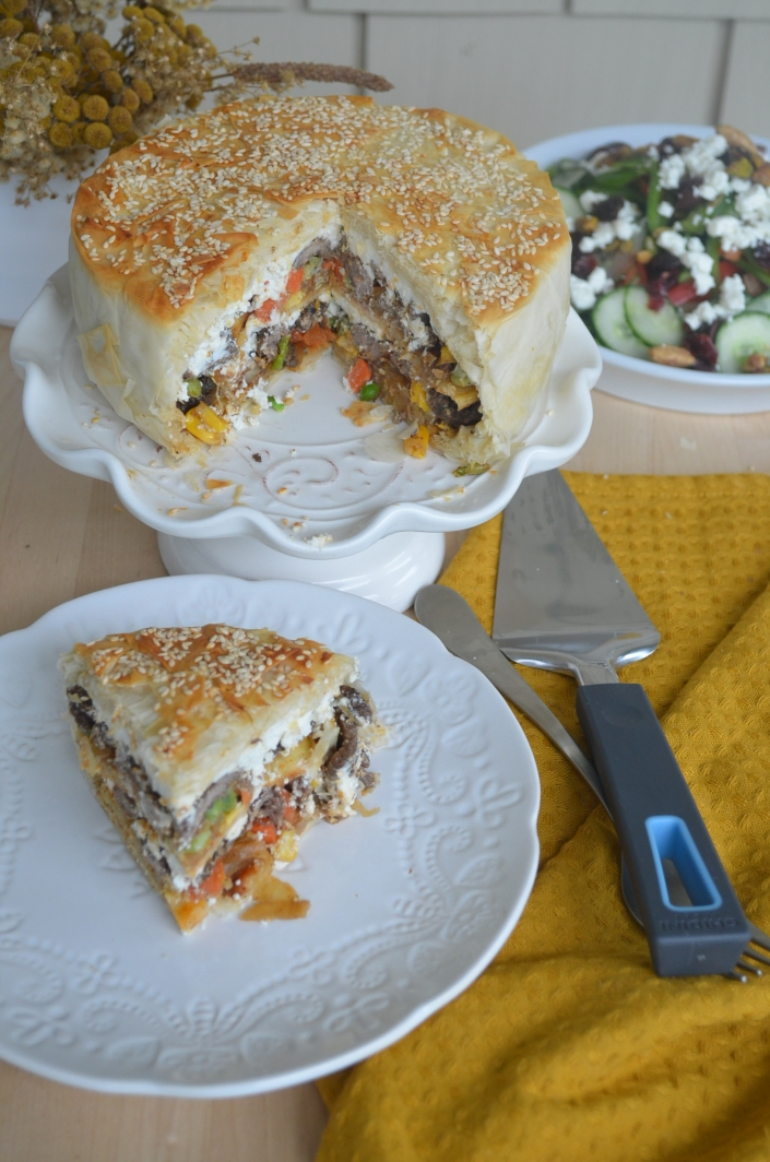 Phyllo Potato Steak Pie