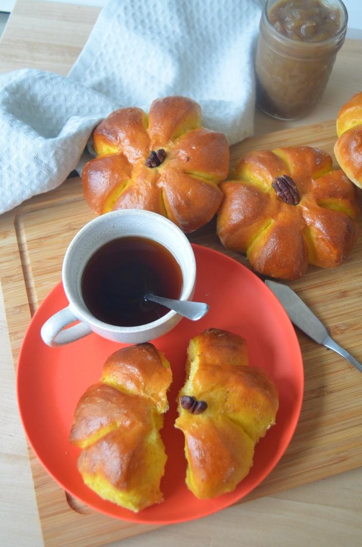 Pumpkin Dinner Rolls by SweetNSpicyLiving