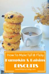Pumpkin Raisins Biscuit