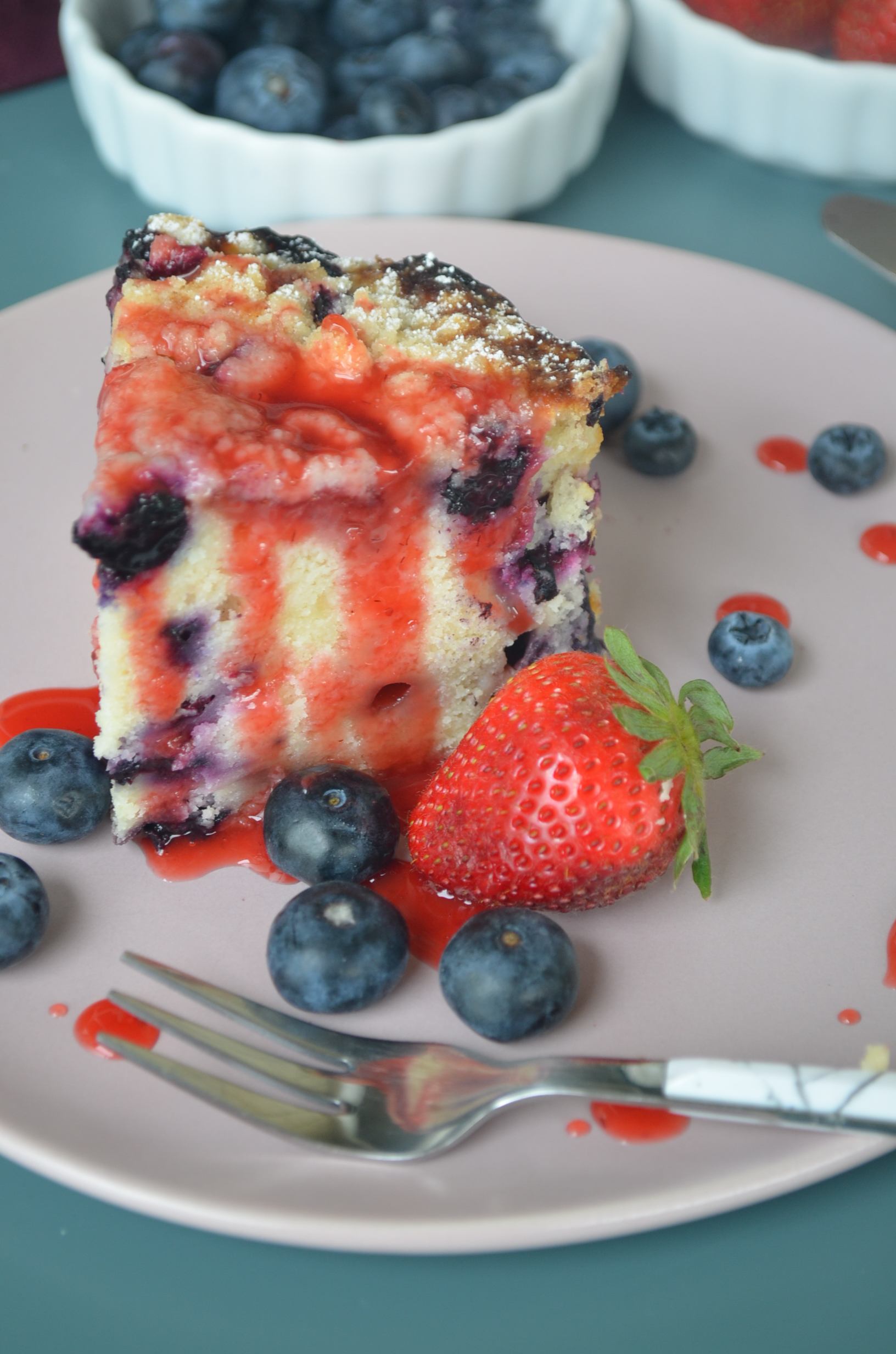 Small Batch Berry Cake with VIDEO by SweetNSpicyLiving