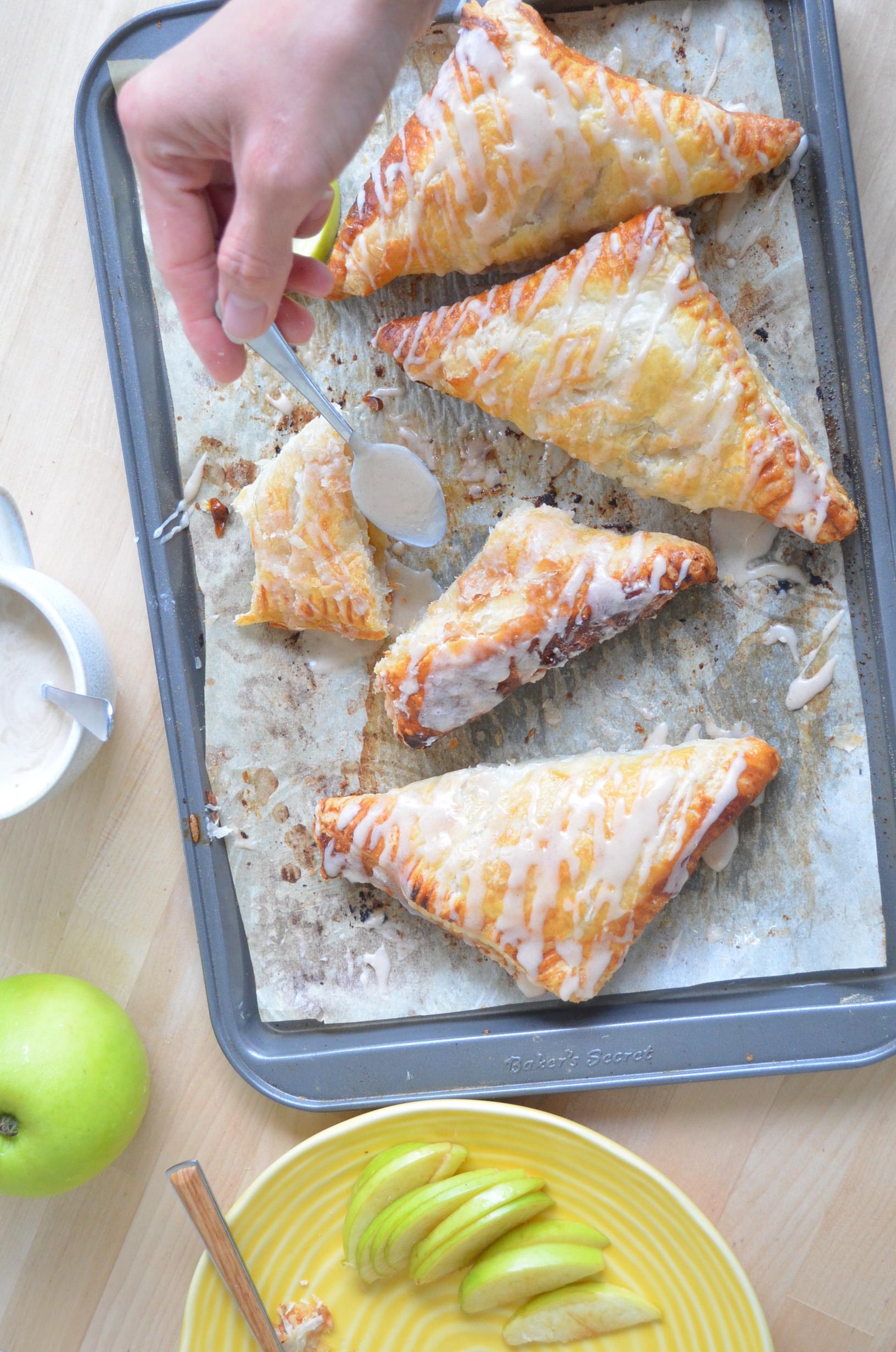 Small Batch Cinnamon Glazed Apple Turnover