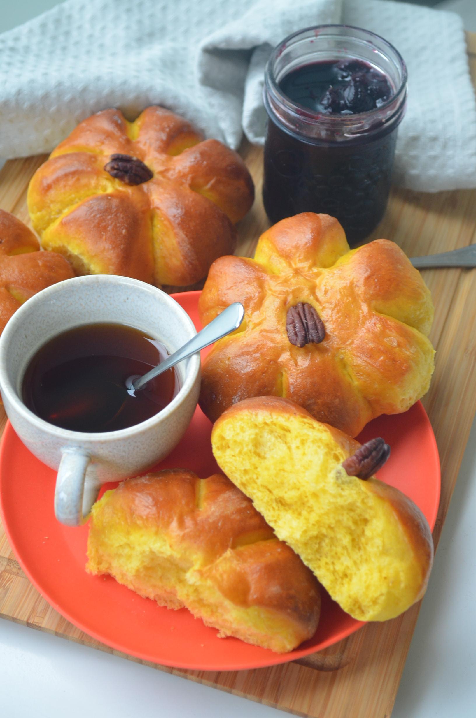 SMall Batch Pumpkin Bread Rolls by SweetNSpicyLiving