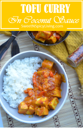 Tofu Curry in Coconut Sauce