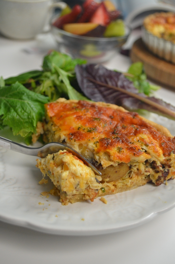 Small Batch Baby Potato Quiche SweetNSpicyLiving