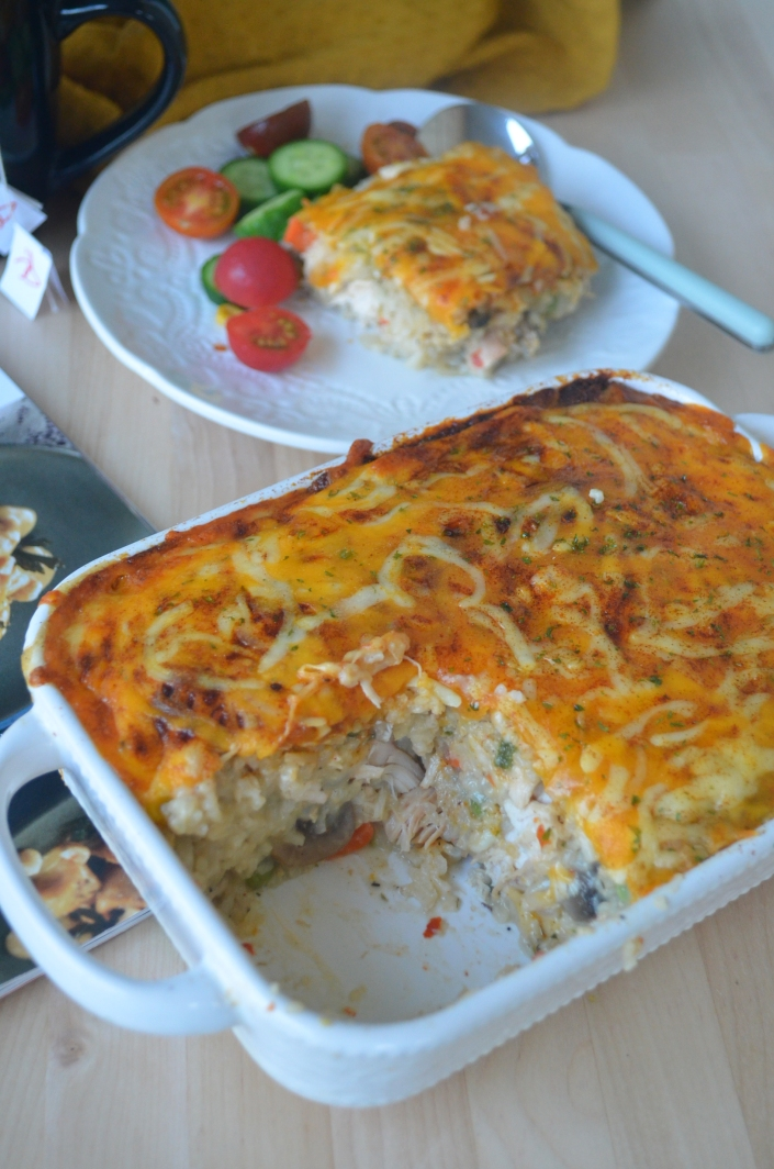 Baked Rice and Chicken Casserole