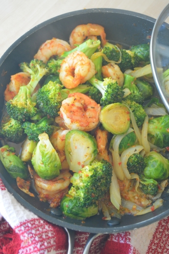 Broccoli and Shrimp Stir-Fry