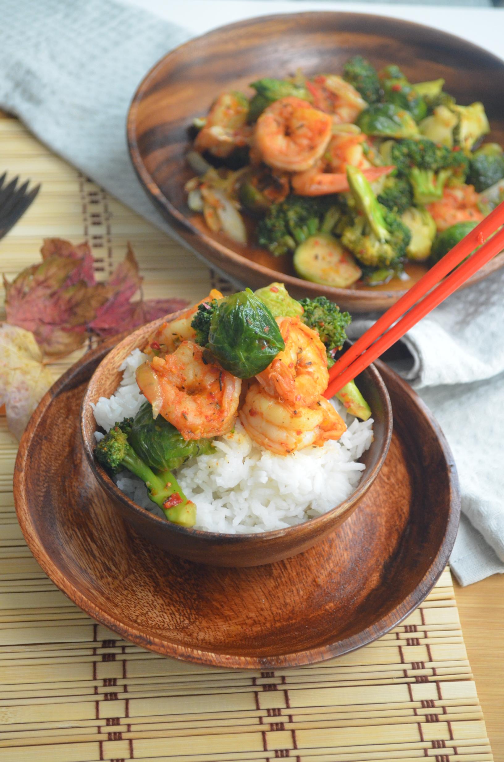 Chinese Shrimp and Broccoli Stir Fry