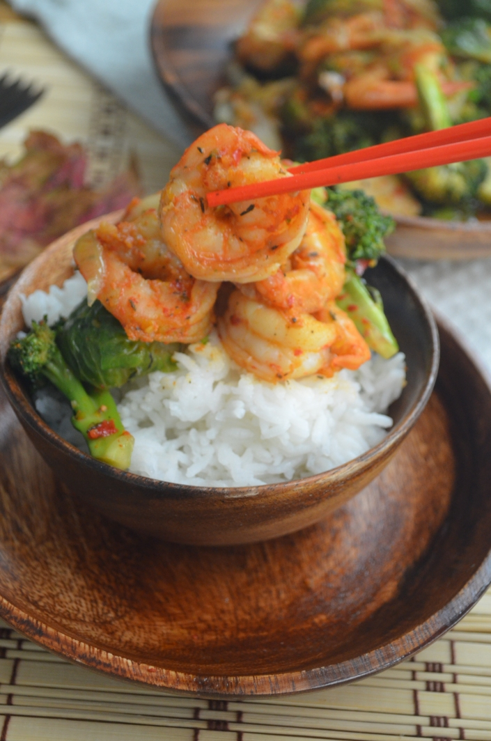 Garlic Broccoli Shrimp Stir Fry Recipe
