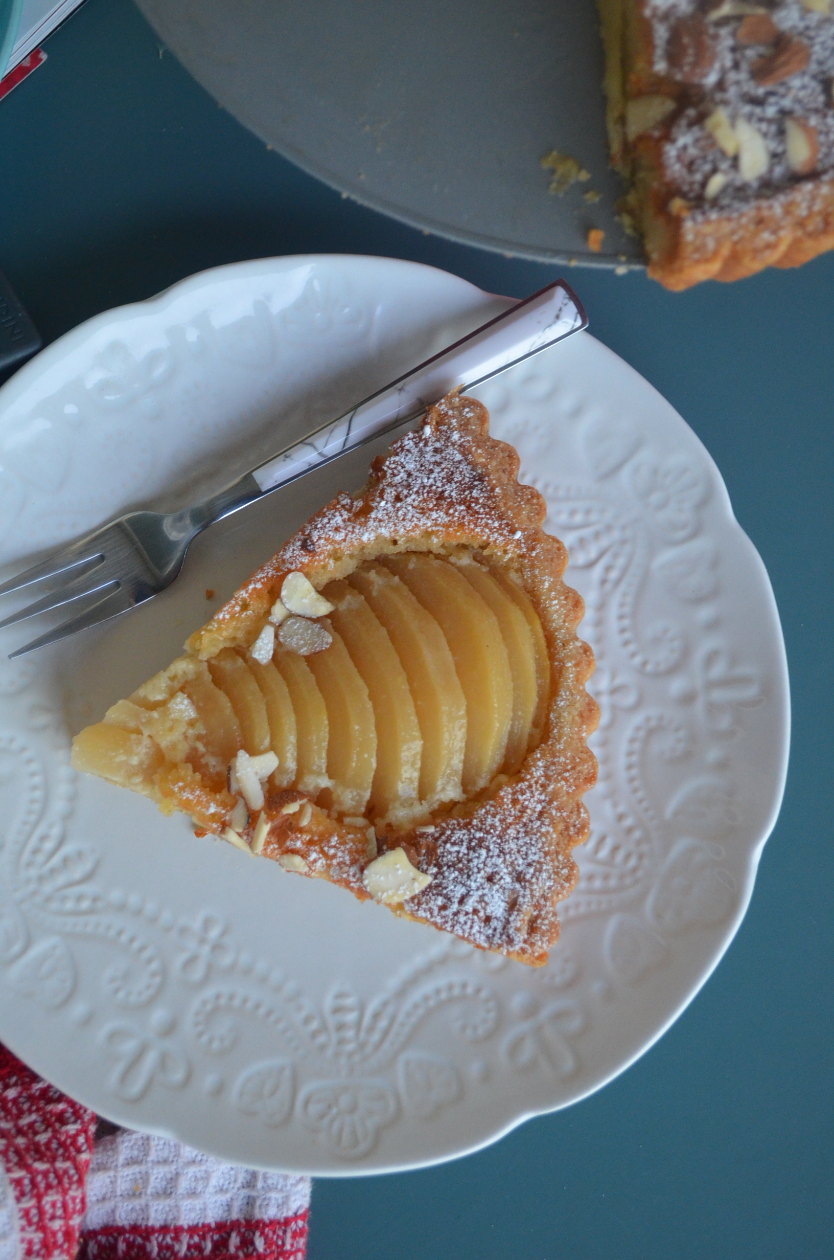 Pear Almond Tart By SweetNSpicyLiving