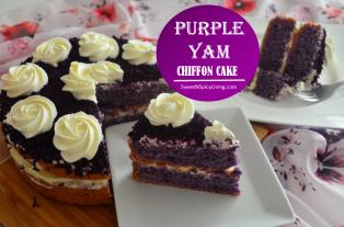 Purple Yam Chiffon Cake