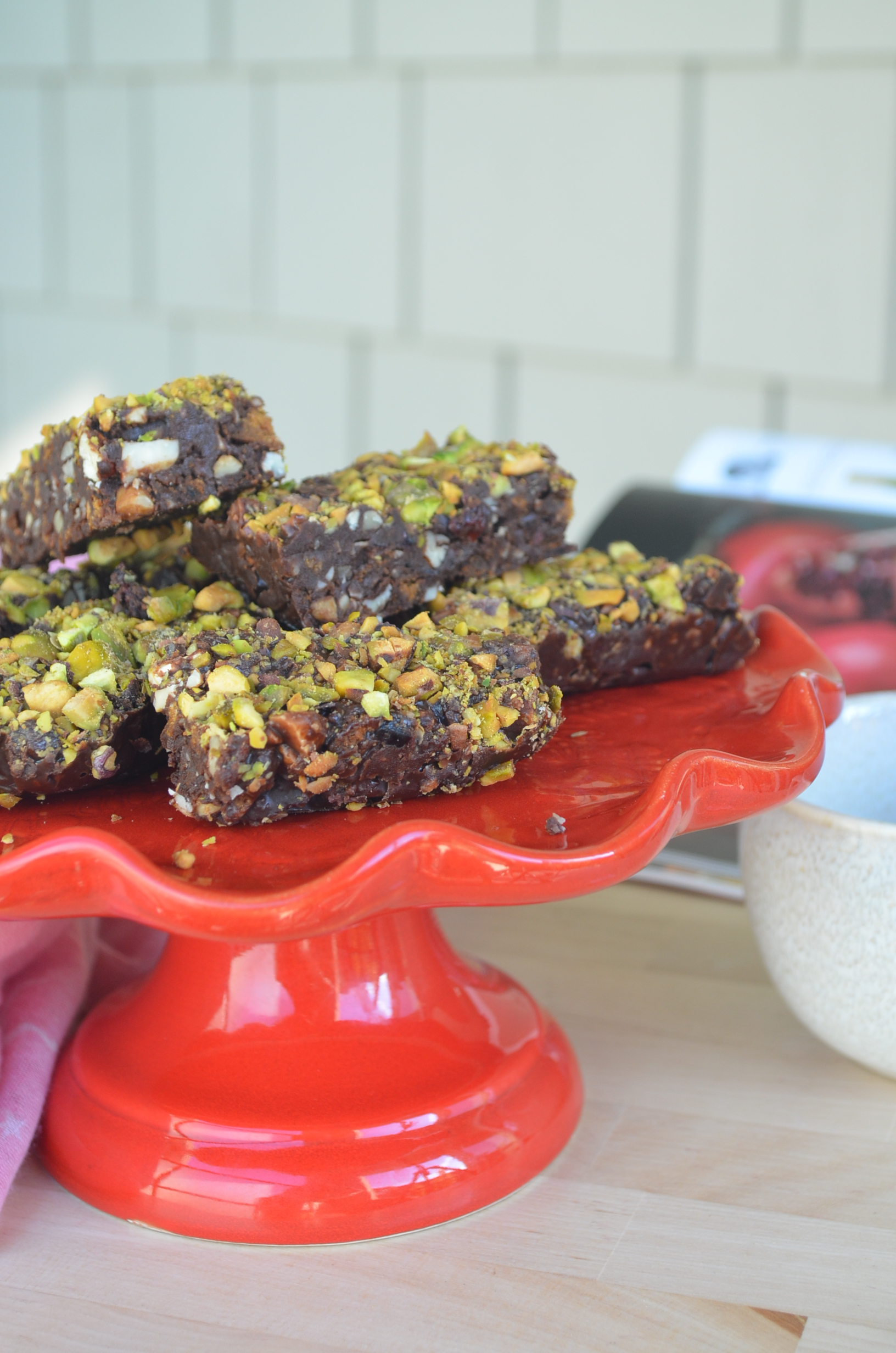 Small Batch No Bake Pistachio Fruits and Nuts Bar