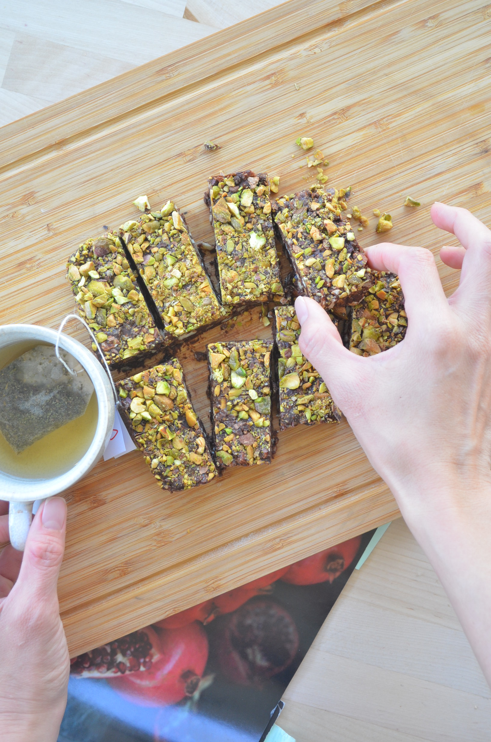 Small Batch No Bake Pistachio Fruits and Nuts Chocolate Bar