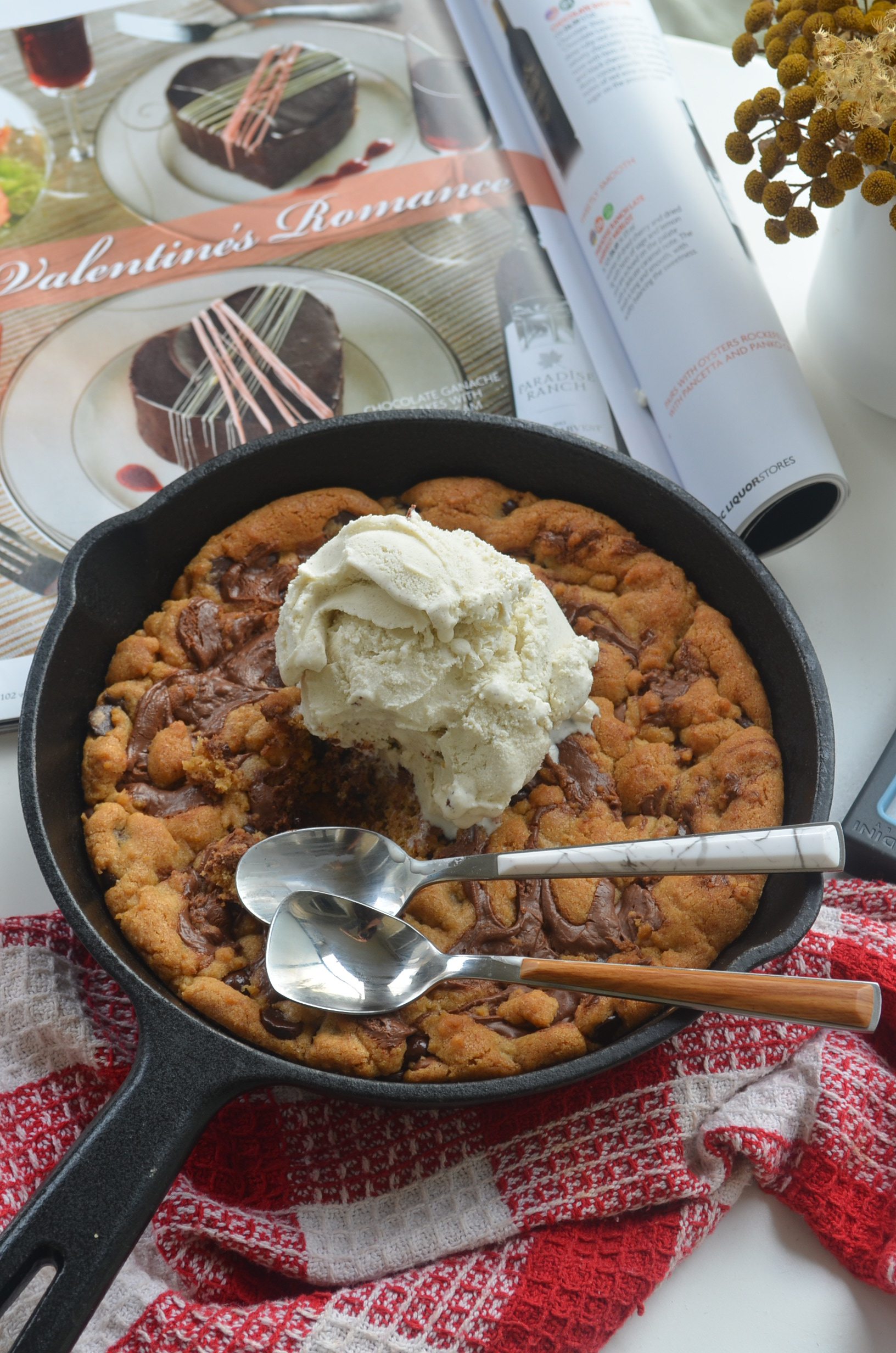Small Batch Skillet Chocolate Chip Cookie