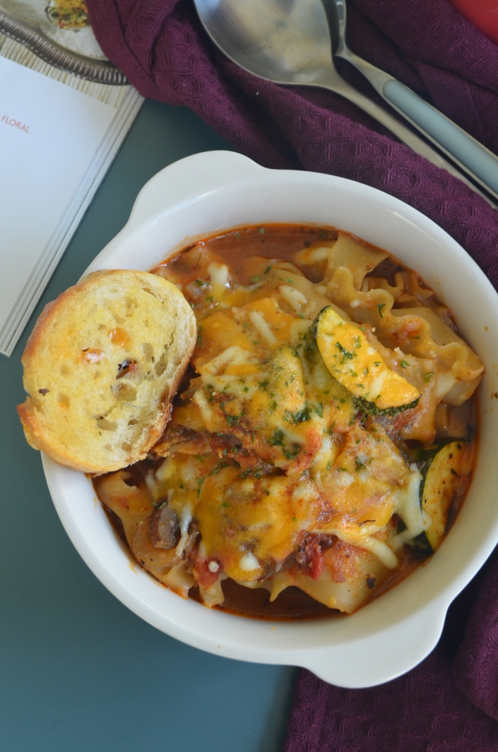 Small Batch Vegetarian Lasagna Soup